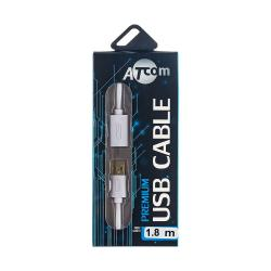 купить оптом Кабель USB 2.0 AM/AF довжина 1.8 м., білий, GOLD plated, блістер