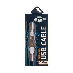 Купить оптом Atcom Кабель USB 2.0 AM/mini usb, 0.8м., білий, блістер