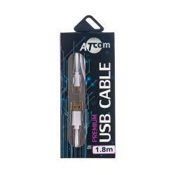 Купить оптом Купить оптом Atcom Кабель USB 2.0 AM/mini usb, 0.8м., білий, блісте