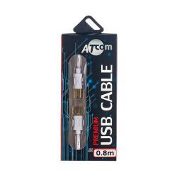 купить оптом купить оптом Кабель USB 2.0 AM/AF довжина 1.8 м., білий, GOLD plate