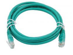 Патч-корд UTP, RJ45, Cat.6, мідь, довжина 1м, зелений, 1 ГБ/с Atcom оптом