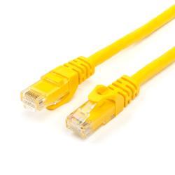 Патч-корд UTP, RJ45, Cat.6, мідь, довжина 0.5м, жовтий, 1 ГБ/с ATcom